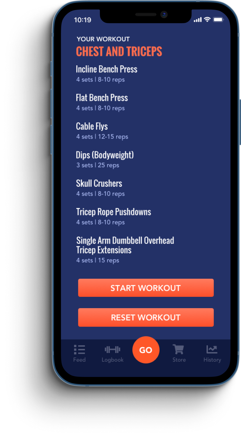 SmartFiit workout screen
